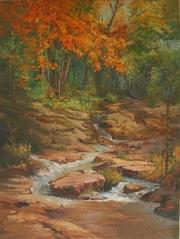 Картина Анатолия Гопкало Осенний ручей
