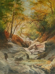 картина Анатолия Гопкало Осень в Большом коньоне. Крым