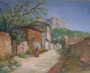 картина Анатолия Гопкало Весна в Бахчисарае