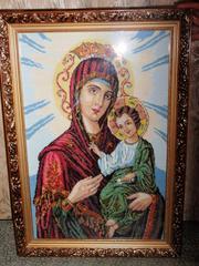 Продам картину (икона) - ручная работа (вышивка крестом)