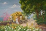 картина Анатолия Гопкало На верхней террасе Воронцовского дворца