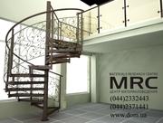 Винтовая лестница от ДОМ тм на www.dom.ua