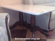 Столы из мрамора. Мраморный стол. Столешница на кухню.