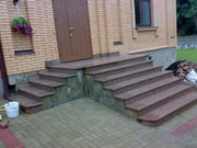 Входные группы,  лестницы,  ступени,  лестничные группы из натурального камня - гранита и мрамора.