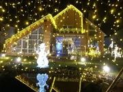 иллюминация.офрмление герляндами, лампами, декорациями, фасадов домов