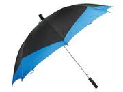 продам зонт-трость со шнуром полуавтоматический, чёрный с синим(возможе
