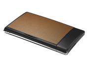 Визитница с флеш-картой на 4 Gb и ручкой,  коричневая.
