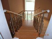 Лестницы комбинированные, нержавейка дерево, дуб, бук.