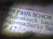 Скрипка  JOANN PAUL SCHORN 17 век.