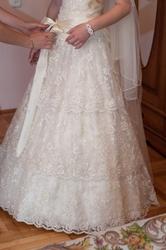 Шикарное кружевное платье!