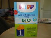Молочная смесь Hipp Bio 1 300 грамм по цене 50 грн./коробка (есть 15 к