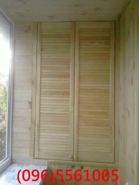 Фото: шкаф из дверей жалюзи. проектирование, монтаж лестниц,.