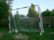 Ворота футбольные дачные детские 2000х1500 (разборные) с полосами,  про