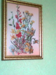 Полевые цвети картина вишета бисерам