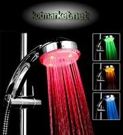 Разноцветные подсветки воды для крана и душа Aqua Show.