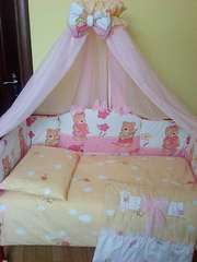Комплект постельного белья в детскую кроватку ТМ «ASIK»- 8 эл- №122