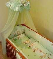 Комплект постельного белья в детскую кроватку ТМ «ASIK»- 8 эл- №104