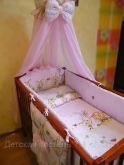 Комплект постельного белья в детскую кроватку ТМ «ASIK»- 8 эл- №102