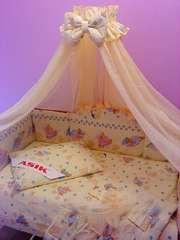 Набор постельного белья в детскую кроватку ТМ «ASIK»- 8 эл- №117