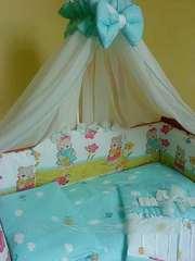 Комплект постельного белья в детскую кроватку ТМ «ASIK»- 8 эл- №123