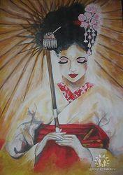 Рисунок гейши