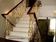 Золочение серебрение лестниц интерьеров стен мебели лепнины