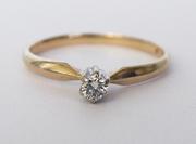 кольцо с бриллиантом 1,00 карата