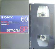 ВидеоКассета  формата  BetacamSP 60  (№1)