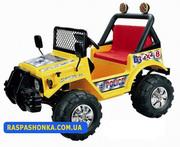 Хочу!Детский электромобиль Jeep A15 желтый
