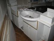 Тумба для ванной с двумя умывальниками