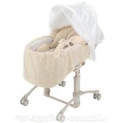 25% скидка на японскую помощницу - колыбелька-стульчик Aprica Shiawase Mini Bed HIDX