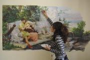 роспись стен,  картины масло акрил в любом стиле барельеф