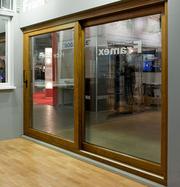 Раздвижные  алюминиевые двери -сдвижные
