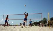 Стойки для пляжного волейбола,  сетка,  разметка,  производитель