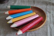 Цветные деревянные карандаши