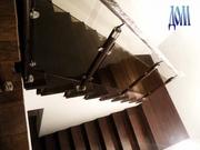ашитая лестница с ограждением из стекла www.dom.ua/content/view/243/251