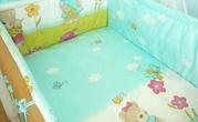 Защита и постель в кроватку новорожденного