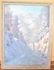 Продаю картину пейзаж Зима!