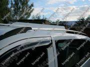 Рейлинги серебристые (пластиковые концевики) на Volkswagen Touareg