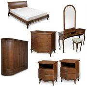 Мебель для спальни из натурального дерева