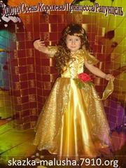 Детское платье Золотко,  Осень,  Королева осени,  Принцесса,  Золотая ос