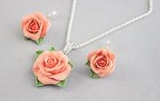 Комплект Персиковые розы