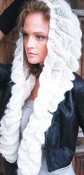 Шапка-шарф ручной работы Снежная королева