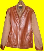 Купить Мужскую Кожаную Куртку С Вязанными Рукавами