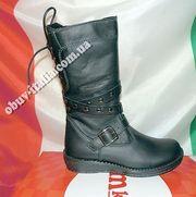 Сапоги детские кожаные на флисе фирмы M-KIDS производство Италия