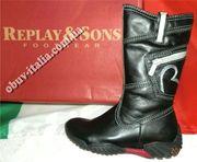Сапоги детские кожаные фирмы REPLAY&SONS для девочек п-о Италия оригин