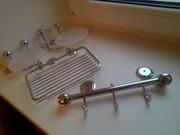 Мыльница. Мыльницы настенные для ванной Andex,  хромированная латунь