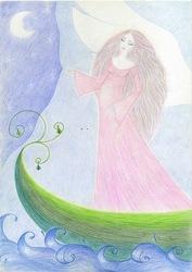 Картина-рисунок Женщина