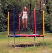 Батут 244 см Jumbo для детей (до 120кг)