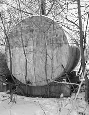 Резервуар цилиндрической формы большой